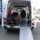 Krankentransportwagen mit Fahrtrage und Tragestuhl